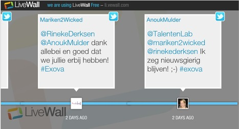 Zo werkt LiveWall - Twitter Wall, Tweet wall | Visualisatie-tools Social Media | Scoop.it