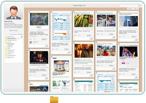 Collect and Organize Live Web Content Snippets Into Dynamic Collections with Wepware | EFL Teaching Journal | Scoop.it