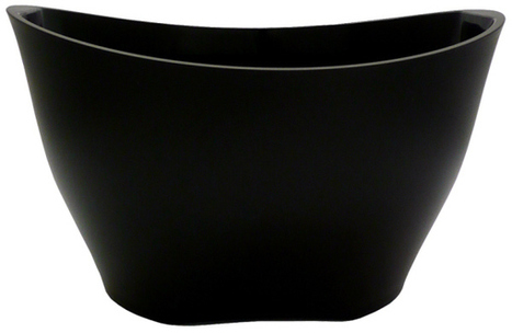 Wine Bucket Oval - Large - Matt Black Acrylic - Champagne Accessories | Home Bar Equipments UK | Scoop.it