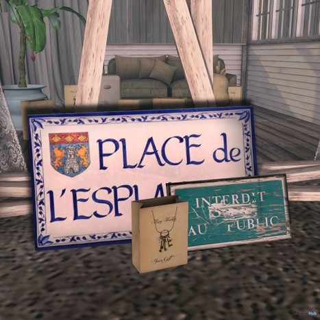 French Signs Shiny Shabby Group Gift by Knick Knacks | Teleport Hub - Second Life Freebies | Second Life Freebies | Scoop.it