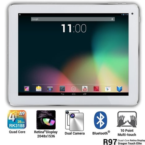 Dragon Touch 9.7 inch Google Android 4.1 Quad Core Retina Screen Android Tablet | Technology Updates | Scoop.it