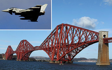 RAF flypast marks 125th birthday of the Forth Bridge | My Scotland | Scoop.it