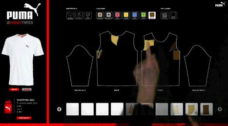 Puma Awearness: une table tactile pour concevoir ses propres T-shirt en magasin |Génération Tactile … Out Of Home | E-commerce, M-commerce : digital revolution | Scoop.it