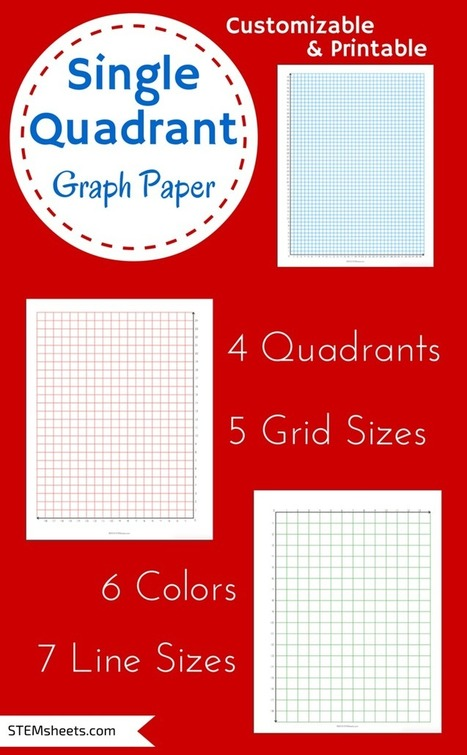 Single Quadrant Graph Paper | Math Worksheets and Flash Cards | Scoop.it