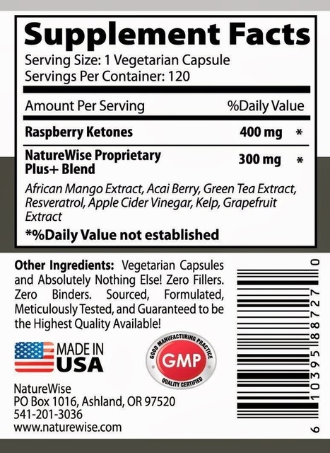 NatureWise Raspberry Ketones Plus+ Weight Loss Supplement and Appetite Suppressant 120 Capsules | camps breakers | Scoop.it