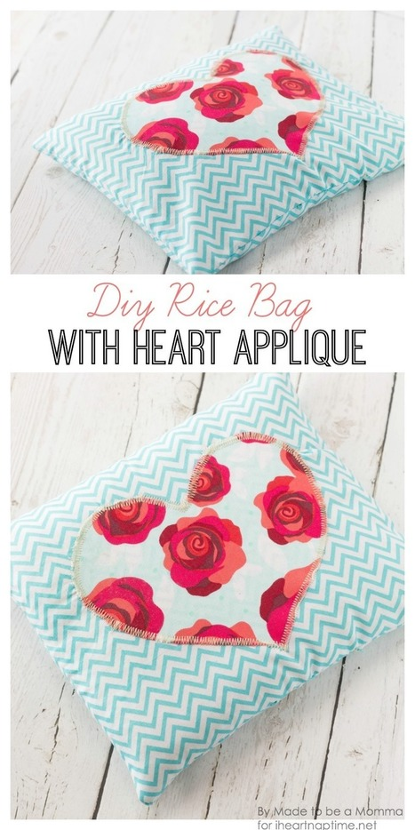 Diy Rice Bag with Heart Appliqué - I Heart Nap Time   Style & Fashion   Scoop.it