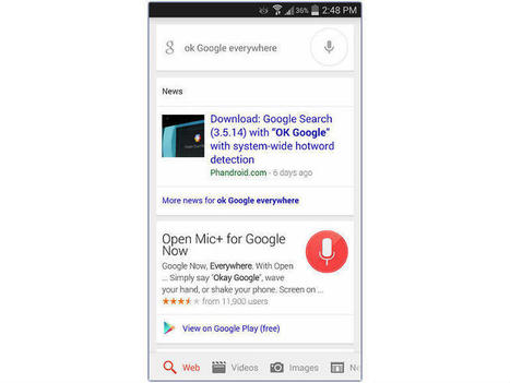 Quick tip: Get OK Google everywhere right now | News Channel - Mind Processors | Cubical 6 | Scoop.it
