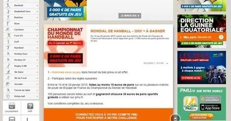 PMU : 3000€ sur le Mondial de Handball - | Paris sportifs & bookmakers | Scoop.it