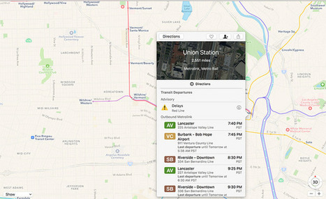 Apple Maps gains Los Angeles public transit data integration | Travellers multimodal information system | Scoop.it