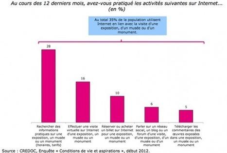 Rapport Crédoc (Juin 2012) : «Utiliser Internet avant, pendant et après la visite» | Culture et Numérique | Scoop.it