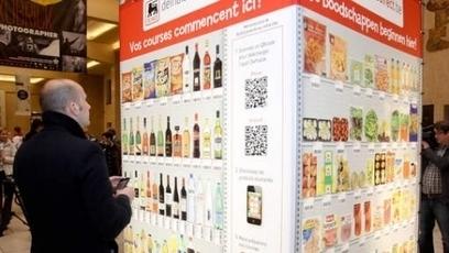 Les Cubes Delhaize Direct : une expérience Belge de QR code et de Commerce | Apple World | Scoop.it