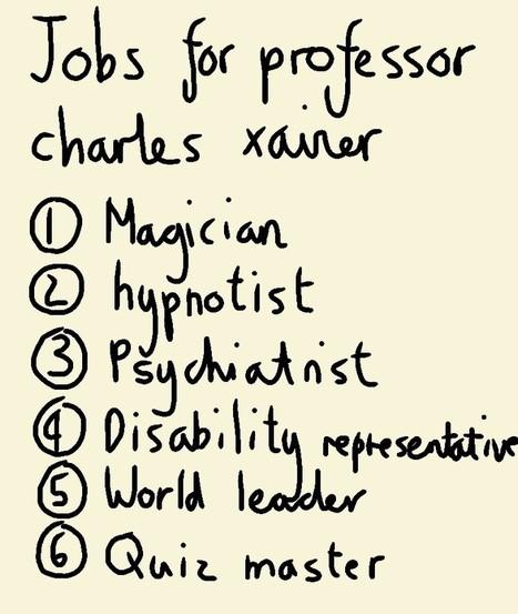 Jobs for professor X | Art | Scoop.it