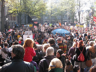 Amsterdamtomalaplaza / Dutchrevolution: first photos from #occupyamsterdam | The Marches to Brussels | Scoop.it