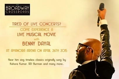 """Benny Dayal Live at """"The Broadway Crossroads"""" - A Musical Events in Pune, Plays Tickets Online - Oysterz.in 