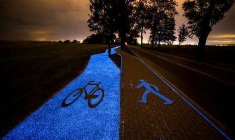 En Pologne, une piste cyclable qui s'illumine la nuit grâce à la lumière du soleil accumulée le jour | Mobilités & Urbanisme | Scoop.it
