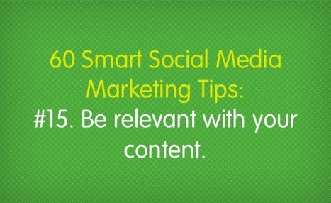 60 Smart Social Media Marketing Tips – Salesforce Marketing Cloud | Social Media Research, Research Social Media | Scoop.it