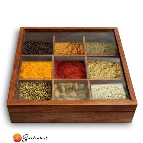 Wooden Spice Box | wooden Kitchen Products and Accessories | Scoop.it