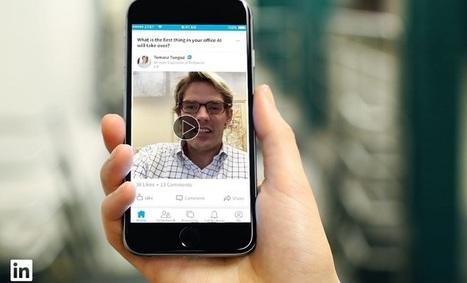 Linkedin se lance désormais dans les posts vidéos | Référencement internet | Scoop.it