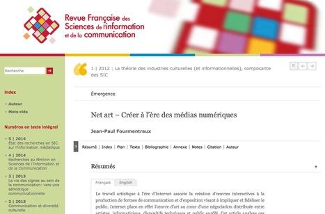 Net art – Créer à l'ère des médias numériques / Jean-Paul Fourmentraux, 2012 | Arts Numériques - anthologie de textes | Scoop.it