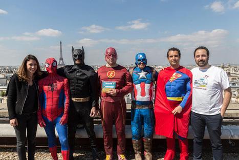 Des super-héros rendent une visite surprise aux enfants malades de l'hôpital Necker | Publicite | Scoop.it