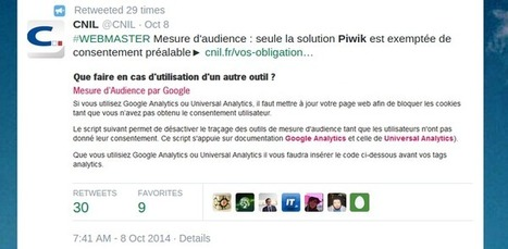 La CNIL recommande Piwik pour respecter les lois sur la protection des données – Piwik Français | Quid Formation multimodale? | Scoop.it