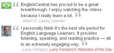 TESTIMONIALS | EnglishCentral World Report | Scoop.it