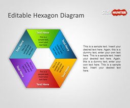 Free Editable Hexagon Diagram for PowerPoint Presentations | Plean Oibre | Scoop.it