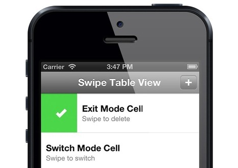 MCSwipeTableViewCell: implement a TableViewCell like the one we can see in the very well executed Mailbox iOS app.   get.idea   Scoop.it