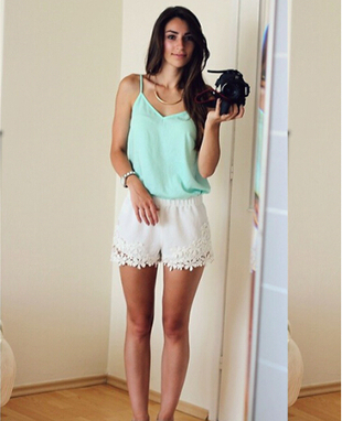 Solid Color Flower Shorts for Women 1 - Tbdress.com   FASHION-BEAUTY-CLOTHES-GIRL   Scoop.it