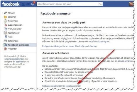 Så här kan du ta bort ditt namn från annonser på Facebook | Folkbildning på nätet | Scoop.it