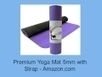 Premium Yoga Mat 5mm with Strap | Exercise Stability Ball | Scoop.it