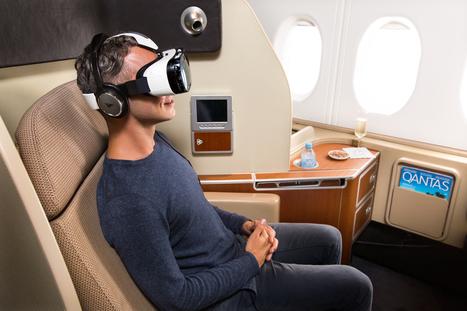 Qantas Brings Gear VR to Airplanes | Low Power Heads Up Display | Scoop.it