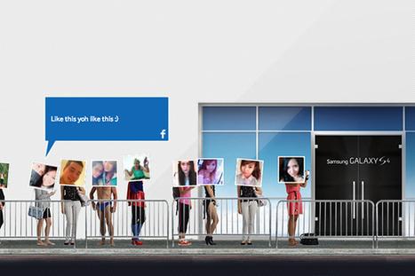 Samsung crée la première file d'attente virtuelle pour la sortie de son Galaxy S4 ! | Humour et Marketing | Scoop.it
