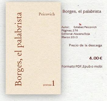 Borges, el Palabrista - Alacena Roja -Librería Digital- | Esteban Peicovich | Scoop.it