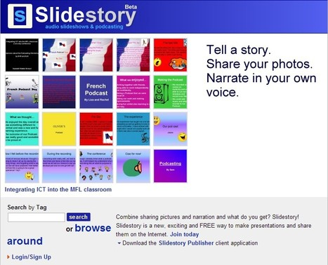 Slidestory-Combine sharing pictures and narration | Bibliotecas Escolares | Scoop.it