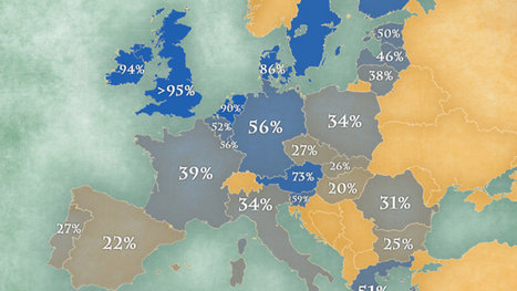 Map: Where Europeans speak English | AP Human Geography | Scoop.it
