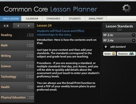 The Common Core Lesson Planner for iPad and Android ~ Educational Technology and Mobile Learning | Students Love Tech | Scoop.it