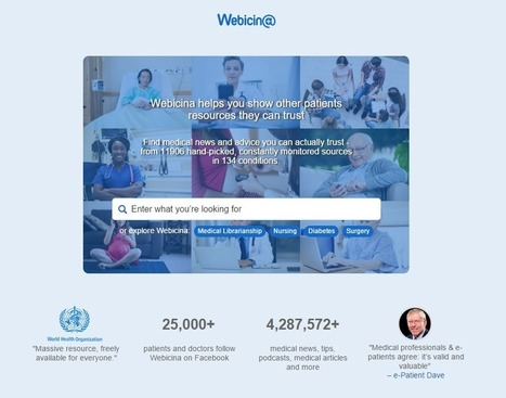 The brand new Webicina.com: Curating social media for patients and physicians | Marketing Sociale - Newsletter 139 | Scoop.it