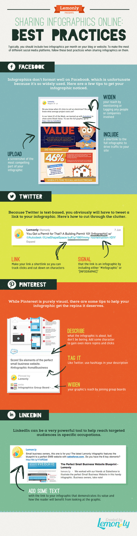 How to Share Infographics on Social Media - Best Practices [Infographic] | BI Revolution | Scoop.it