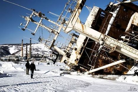 Ice-bound Russian ships wrecked off Kamchatka | Michael John Grist | Abandoned Houses, Cemeteries, Wrecks and Ghost Towns | Scoop.it