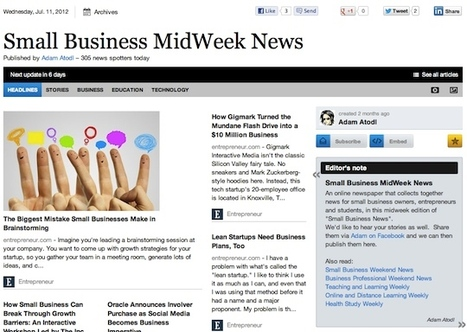 """July 11 - """"Small Business MidWeek News"""" is out 