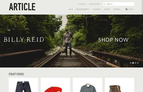 30 Beautiful and Creative Shopify Ecommerce Website Designs | Design Revolution | Scoop.it