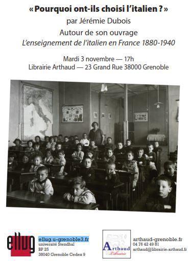 Conférence « Pourquoi ont-ils choisi l'italien ? » par Jérémie Dubois | TICE et italien - AU FIL DU NET | Scoop.it