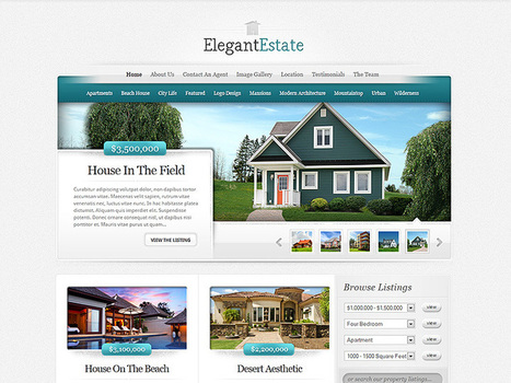 ElegantEstate Real Estate WordPress Theme | WordPress Themes for Business - Download Theme For | Website Themes | Scoop.it