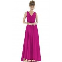 2015 V Neck Pleated Long Chiffon Dark Navy Bridesmaid Dress with Flower Ribbon | Press Release from dressmebridal.co.uk | Scoop.it