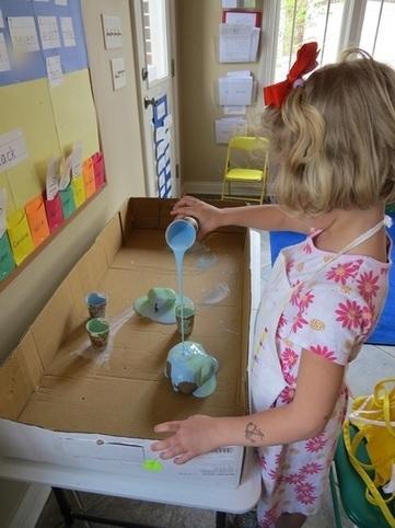 Our Earth rocks: a pour painting activity | Teach Preschool | Teach Preschool | Scoop.it