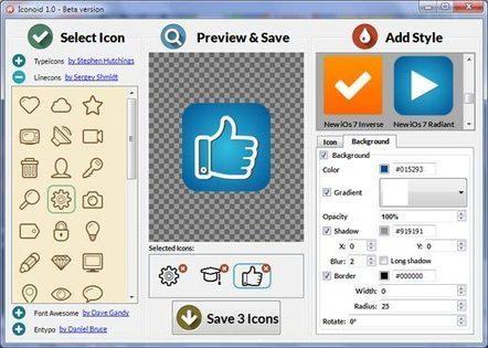 Iconion : Free Icon Maker | Ressources TICE  pour professeur de français langue etrangère | Scoop.it