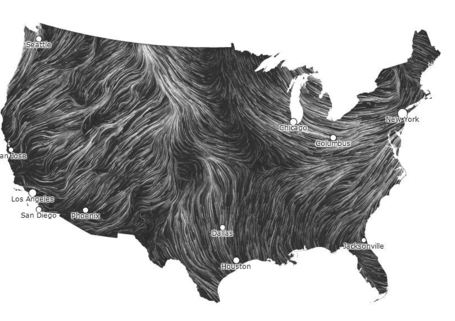 Wind Map | Geography Education | Scoop.it