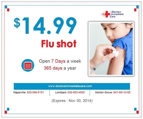 $14.99 Flu Shots in Lombard Urgent Care | Medical Care & Hospitals | Scoop.it