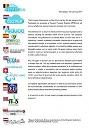 Première déclaration commune des associations européennes d'utilisateurs de la cigarette électronique ! • AIDUCE   cigarette virtuelle   Scoop.it